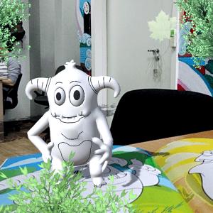 3D-раскраска «Оживашки» с монстриками