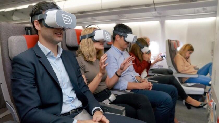Виртуальная реальность во время полёта