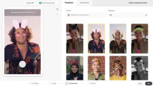 Lens Web Builder - простой веб-редактор дополненной реальности от Snapchat